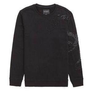 Guess LS SNAKE EMB CREW sweatshirt